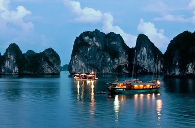 Beautiful night In Halong City
