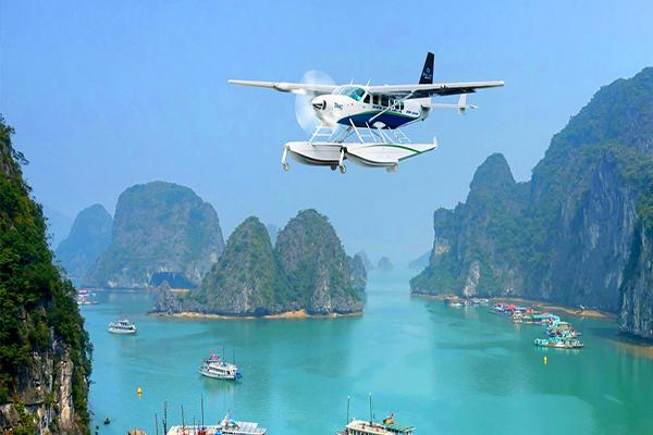 Kết quả hình ảnh cho 3. Contemplate Halong Bay by seaplane