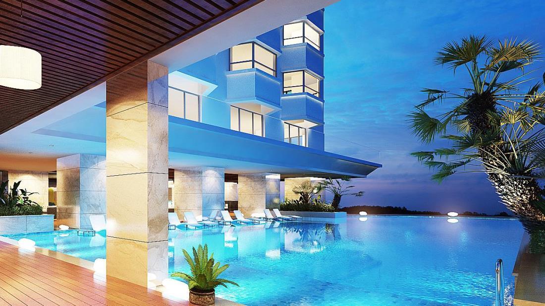 Cần tìm một khách sạn tại Bãi Cháy có bể bơi ngoài trời?3